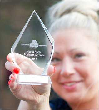 Kara Wilkinson, Business person of the Year 2012, North Notts Business Awards